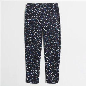 J.Crew Printed Blue Tencel Pants